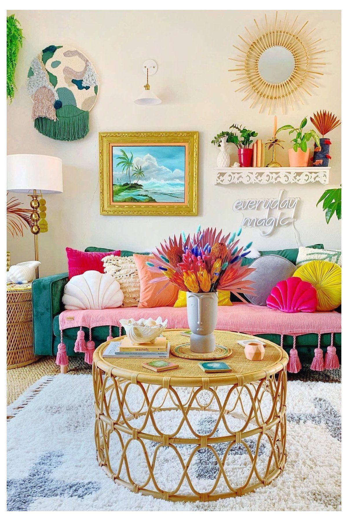 colorful boho little girls room