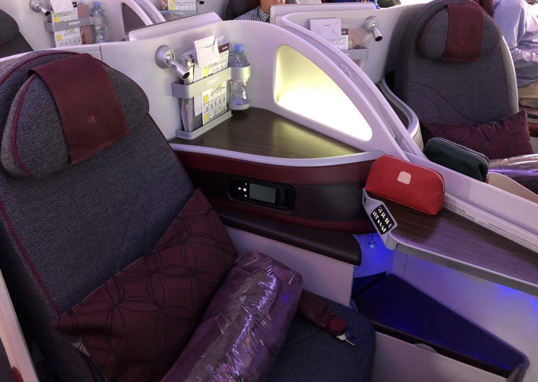 Flight review qatar airways business class a380