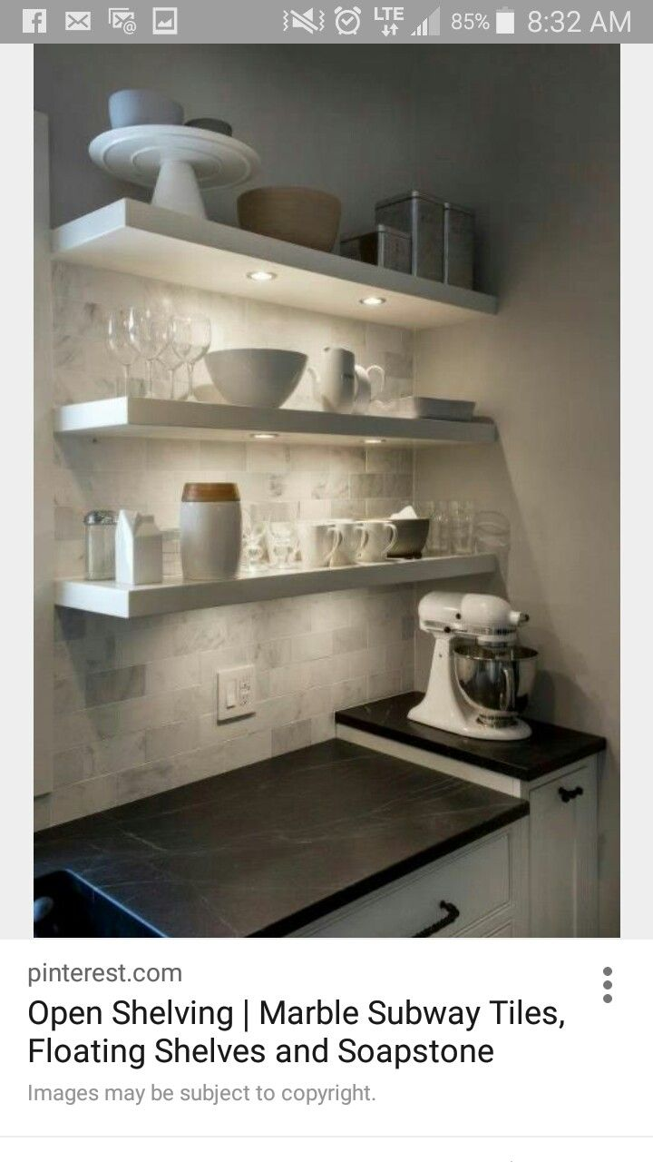 Pin By Kathryn Connolly On Kitchen Ikea Lack Shelves Floating Shelves Kitchen Shelves