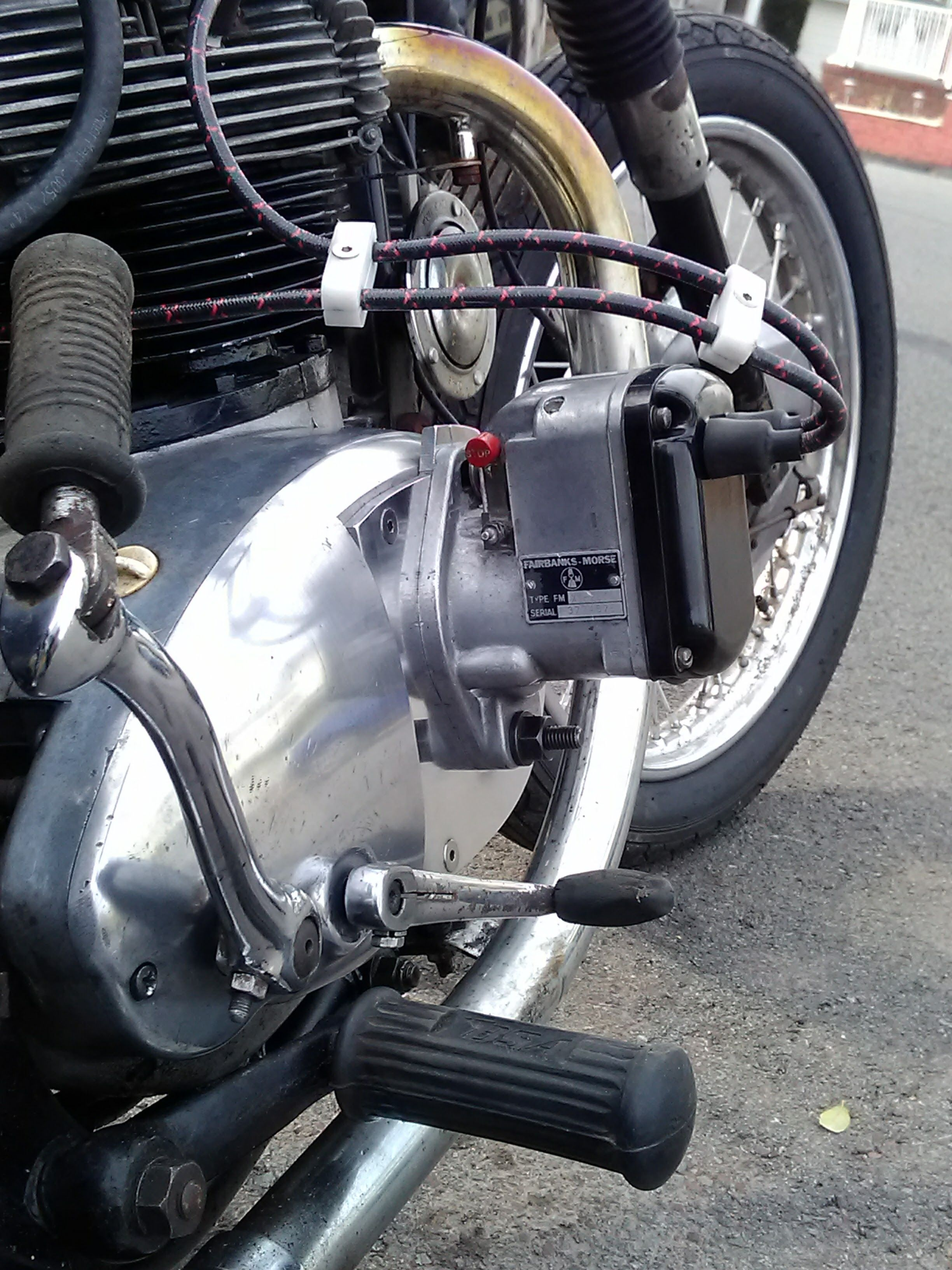 1969 bsa motorcycle magneto mod  [ 2448 x 3264 Pixel ]