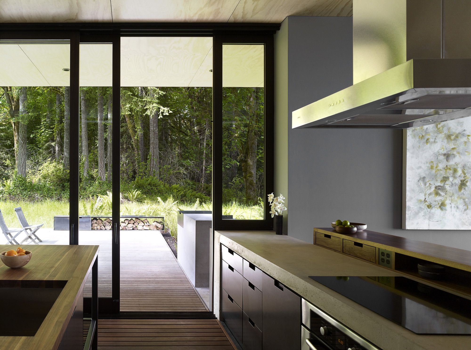 Mw works architecture - Interior Aspect Of Case Inlet Retreat In Washington State Usa By Mw Works Architecture Design