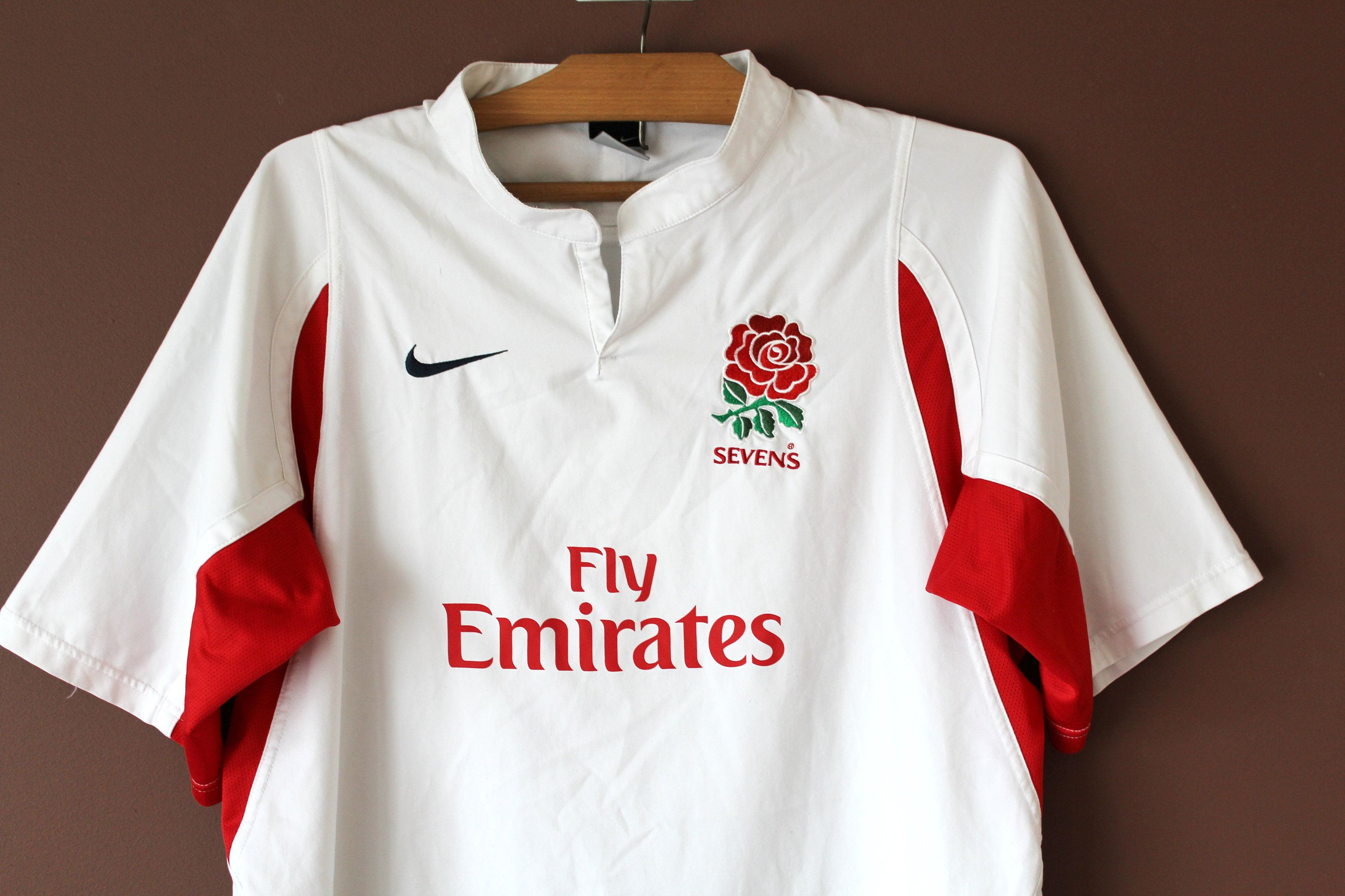 Vintage National England Rugby Team Shirt Nike Rugby Shirt White Red Nike Jersey Nike Training Shirt Nike Trikot England Rugby Team Rugby Team Rugby Shirt