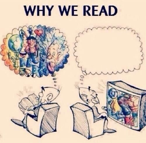 speech about why reading is more beneficial than tv