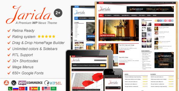 Jarida v2.4.3 - Responsive WordPress News, Magazine, Blog - http ...