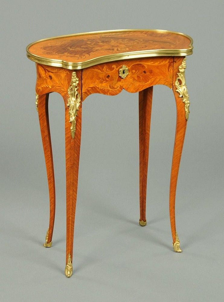 A 19th Century French Marquetry Occasional Table,