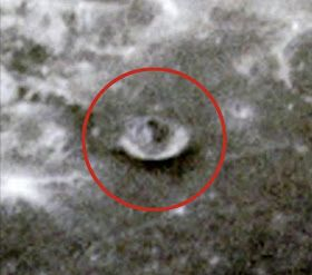 Photo of Alien On The Moon In Google Moon With A Shadow And Evidence Of A Base