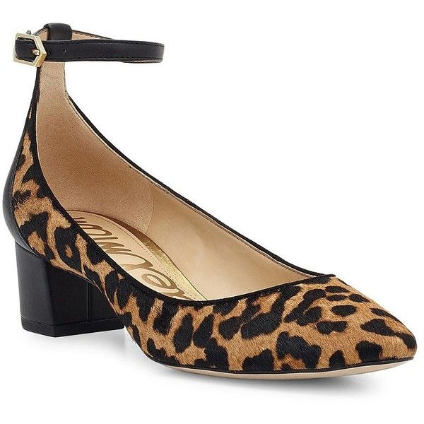 46570a2f2 Sam Edelman Lola Calf Hair Block Heel Pumps ( 140) ❤ liked on Polyvore  featuring