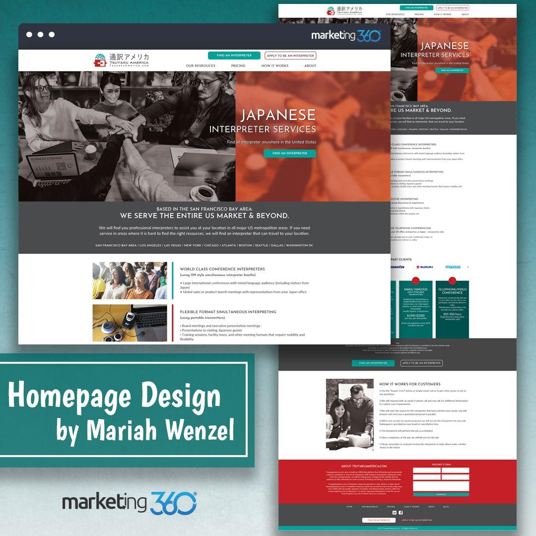 Design Of The Day Website Design Concept For An Interpreter Service By Our Talented Designer Mariah Wenzel Homepage Design Website Design Logo Concept