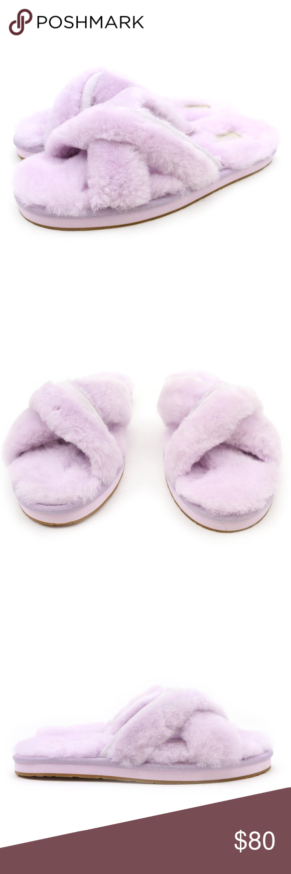 ed00eeb7837 UGG Abela Lavender Fog Purple Sheepskin Slides NEW Super cute and ...
