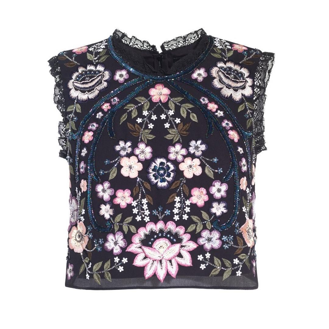 Whimsical embroidery, ethereal florals and statement motifs. Sundowners at the ready: your festival styling starts here…. needleandthread.com [: Embroidery Lace Top, £125.00] Pssst... FREE delivery all weekend, starts tomorrow
