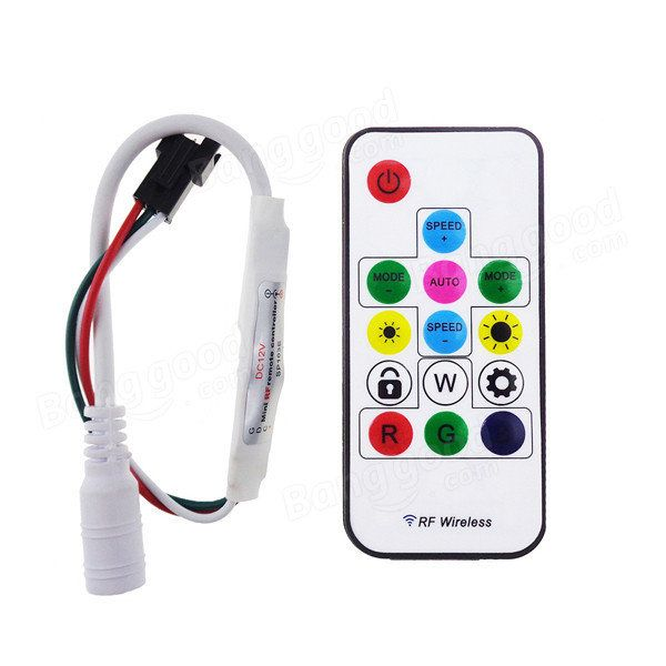 Led Light Strips With Remote Simple Dc 5V Ws2812 12V Ws2811 Rf Led Light Strip Wireless Remote Mini