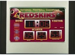 Washington Redskins Scoreboard Desk & Alarm Clock