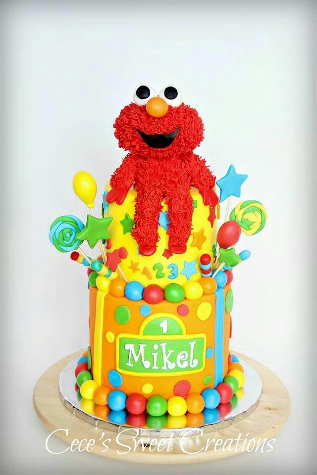 Elmo Birthday Cake Samuels 1st Birthday Pinterest Elmo