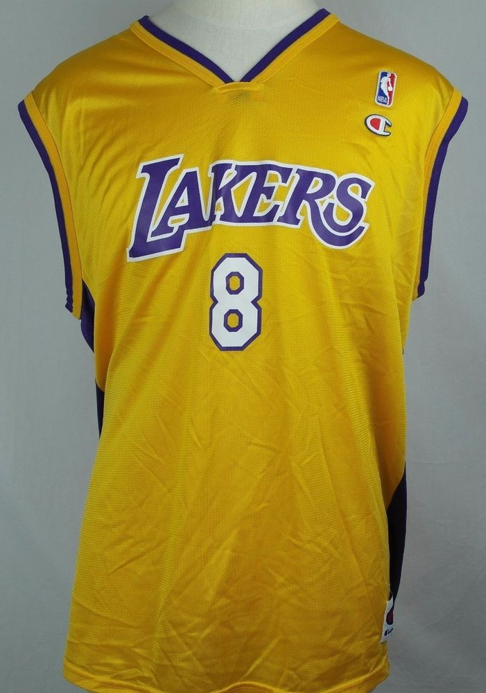 8363a6b305b Kobe Bryant Champion Basketball NBA Lakers Jersey - Size 48 Men s XL Extra  Large  Champion  LosAngelesLakers
