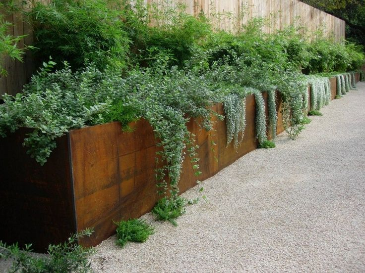 corten steel low retaining wall landscaping border cost ...