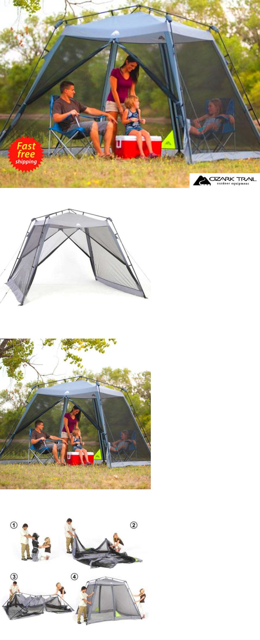 Canopies and Shelters 179011 Ozark Trail 10 X 10 Instant Screen House Sun Shelter Canopy  sc 1 st  Pinterest & Canopies and Shelters 179011: Ozark Trail 10 X 10 Instant Screen ...