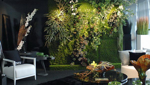 mur v g tal artificiel showroom fendi floride deco v g tale pinterest vertical garden. Black Bedroom Furniture Sets. Home Design Ideas