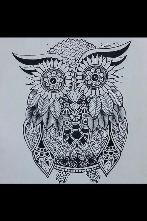 Imagen Via We Heart It Https Weheartit Com Entry 148572139 Art Artist Doodle Draw Drawing Owl Doodling رسم فن بو Easy Drawings Art Geometric Tattoo
