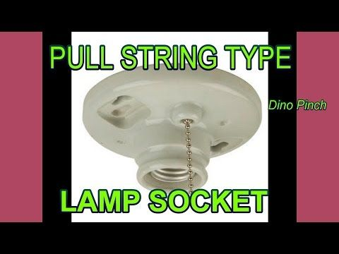 Replace Pull Chain Type Light Fixture Youtube With Images Pull Chain Light Fixture