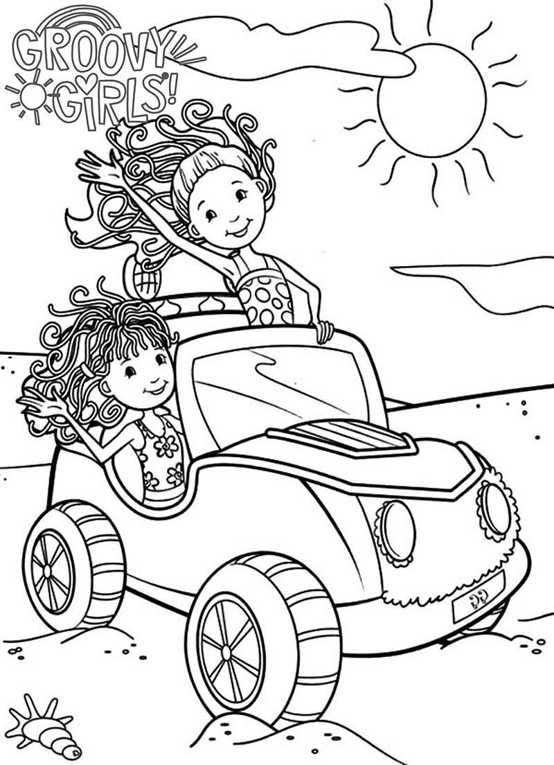 Race Car Coloring Sheets Coloring Groovy Girls Coloring