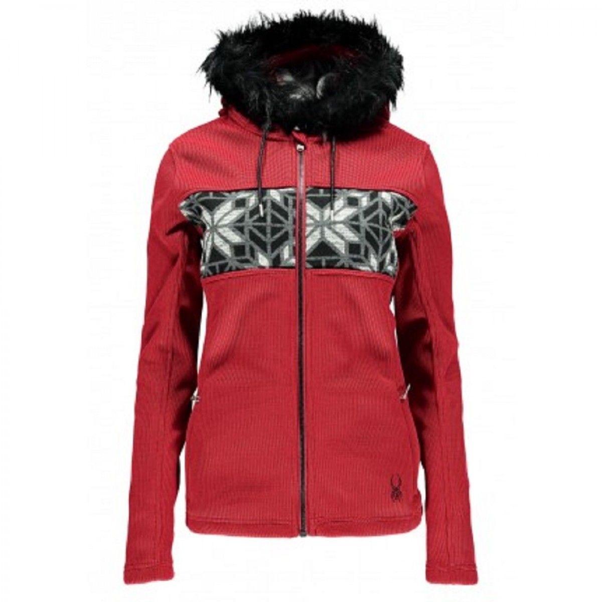 1a684d509 Spyder Womens Soiree Hoody Faux Fur Core Sweater from Golf   Ski ...