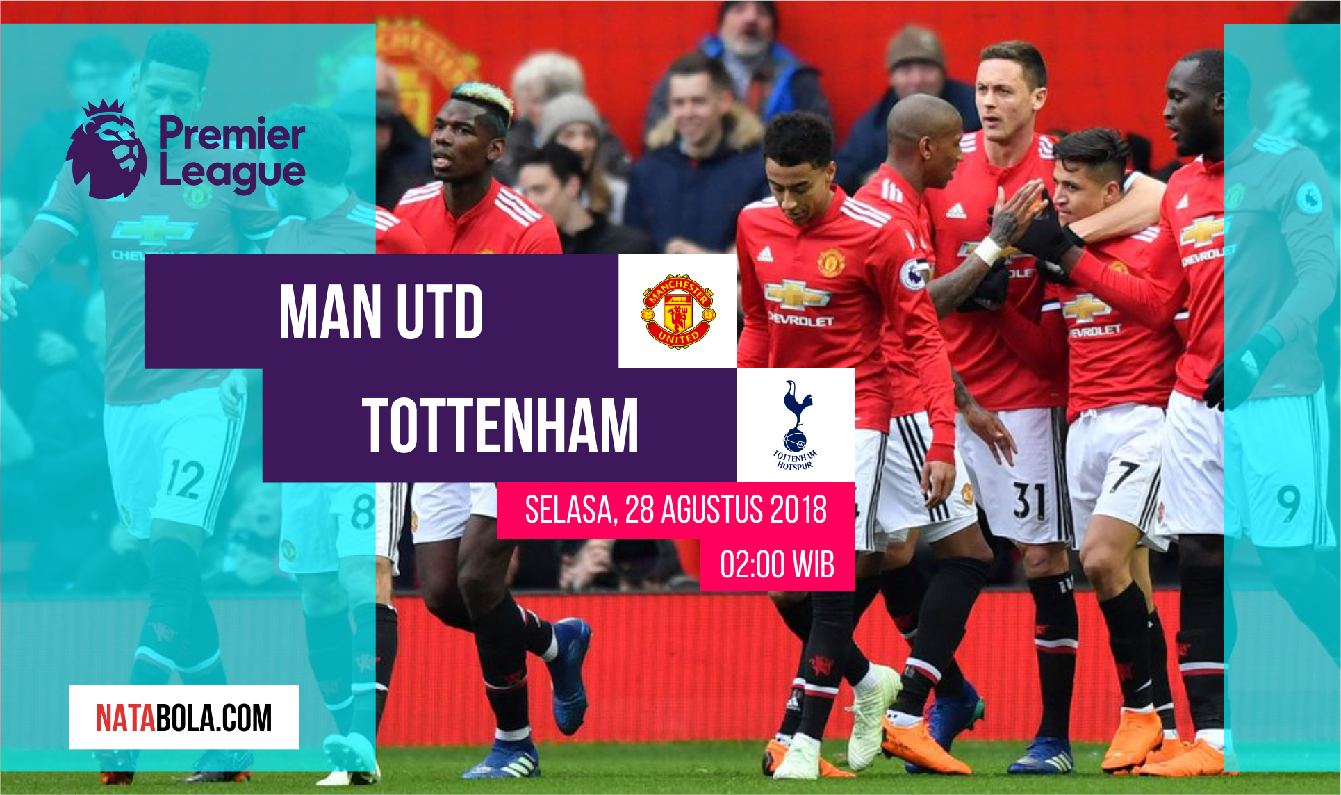 Jadwal & Prediksi Manchester United vs Tottenham Selasa
