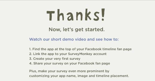 Thank you says survey monkey
