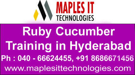 Maples It Techologies Offers Ruby With Cucumber Course Training In