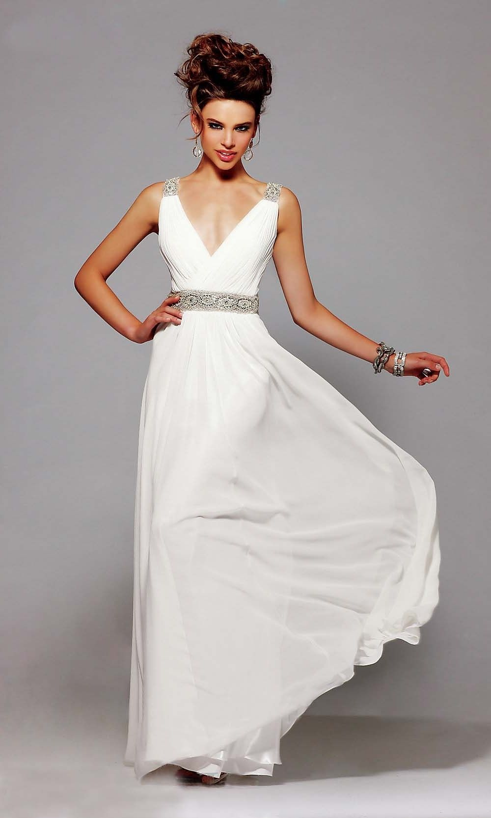 Mother of the groom dresses casual wedding  Aline Vneck Floorlength Chiffon with Beading Prom DressPD