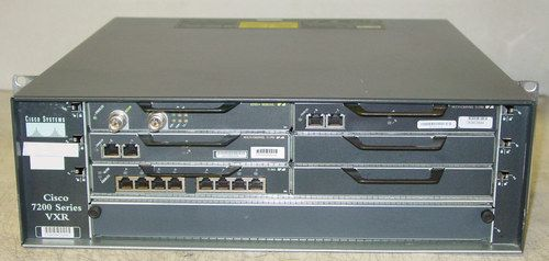 Cisco 7206 VXR Router w/ NPE-G1 Network Processing Engine and more