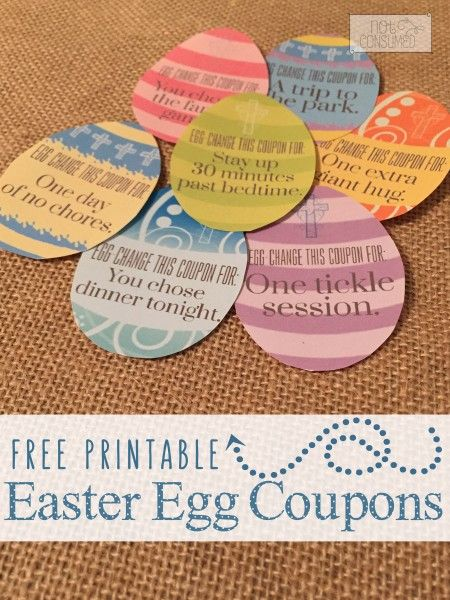 picture relating to Egg Coupons Printable called Totally free Printable Easter Egg Discount coupons eAsTeR // SpRiNg