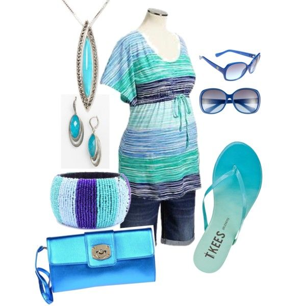Maternity in Beachy Blues by miclynn1974 on Polyvore