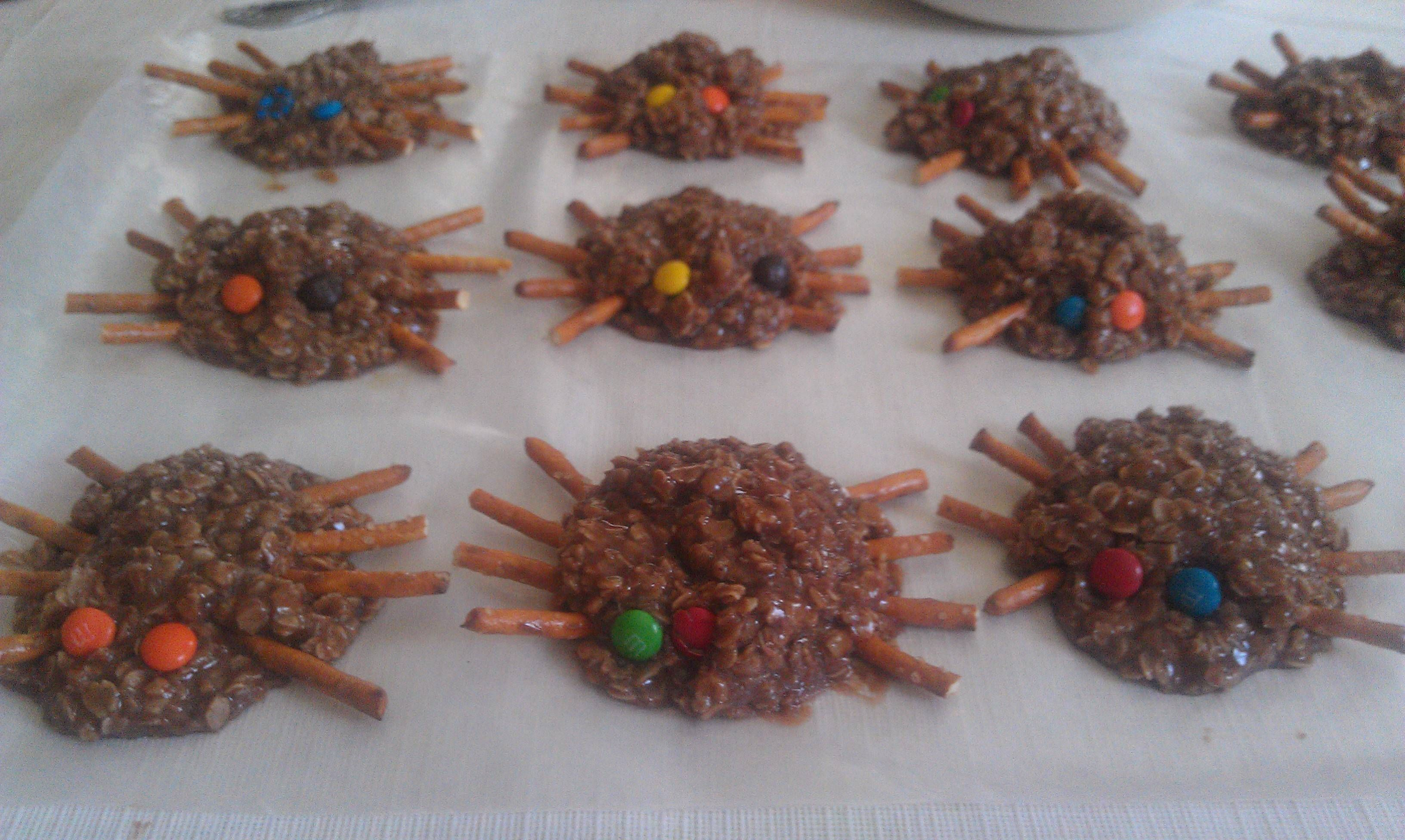 Our No Bake Spider Cookies For Itsy Bitsy Spider Day At