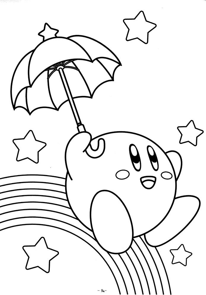 Free Printable Kirby Coloring Pages For Kids Coloring Books