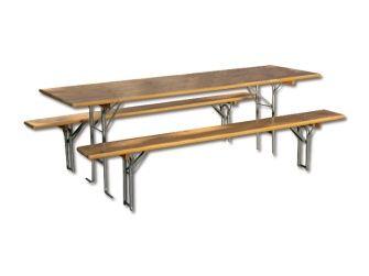 Sun Fun Bierzeltgarnitur Masse Tisch 70 X 220 Cm Farbe Gestell Silber Bauhaus Haus Bau