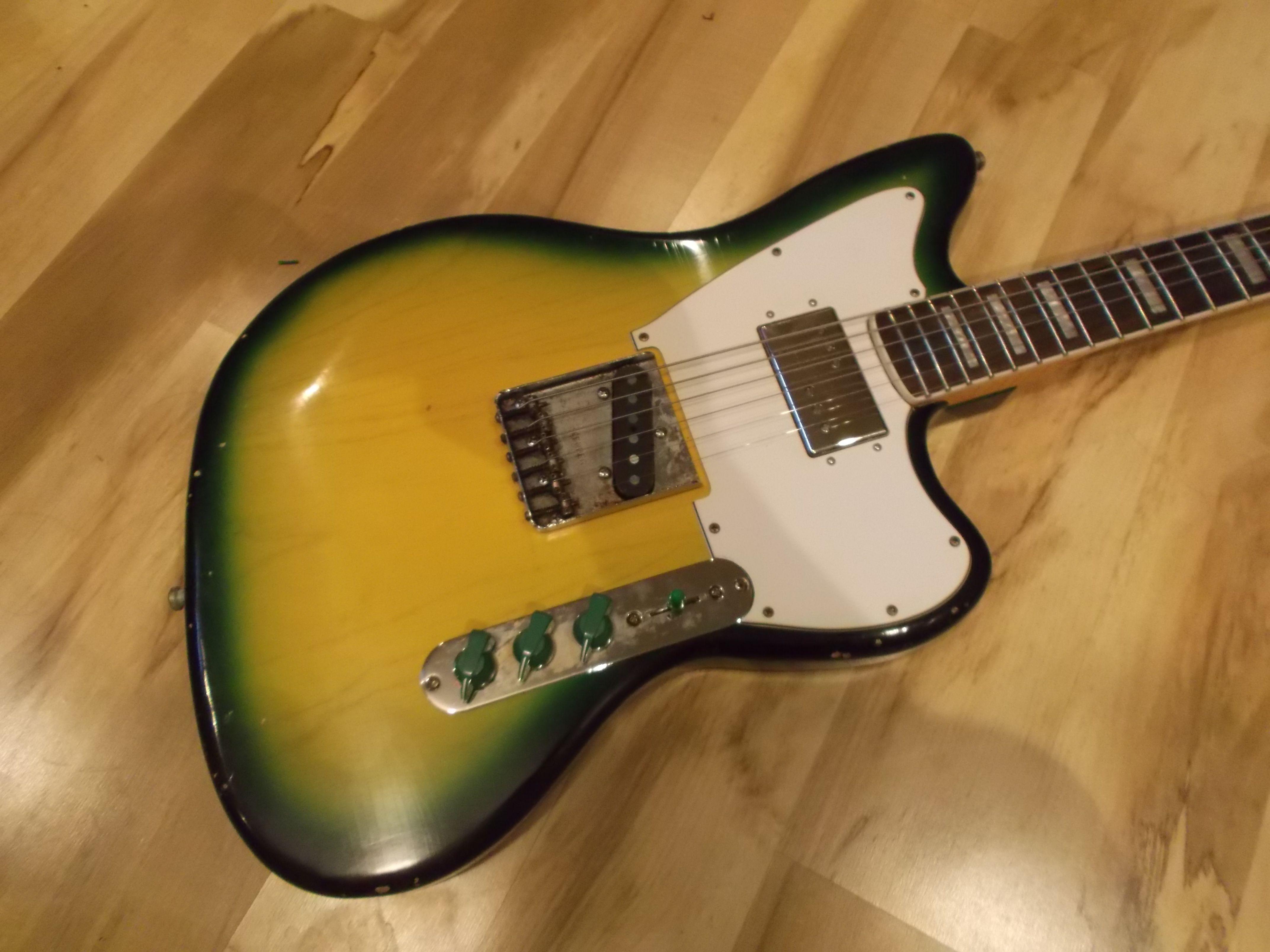 Fender style Telemaster / Jazzcaster / Partscaster in Greenburst