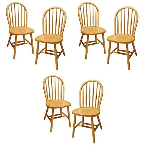 Delicieux Winsome Wood Windsor Chair, Natural, Set Of 6