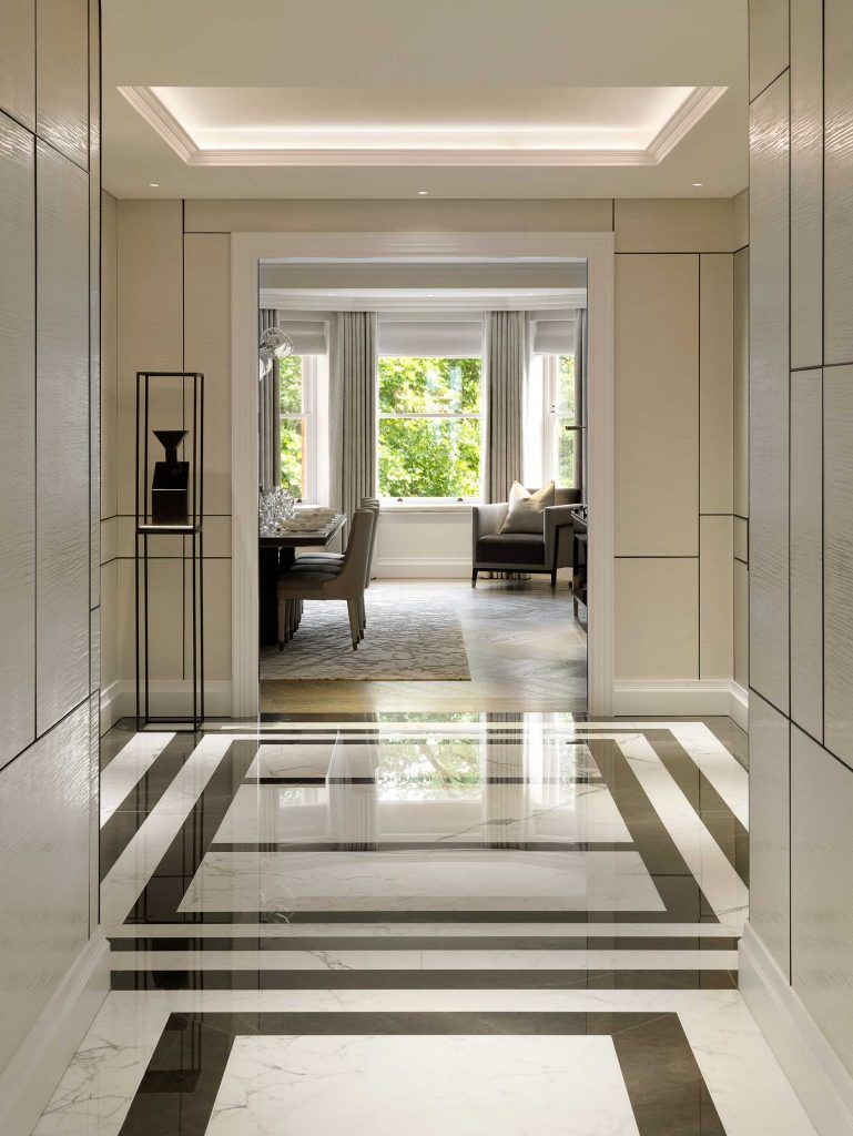 A Substantial Five Bedroom Lateral Apartment Marble Flooring Design Floor Design House Design
