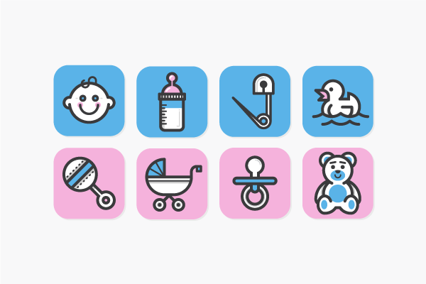 Miscellaneous Icons by Kevin Moran, via Behance