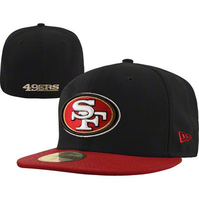 1cd5e135df012e San Francisco 49ers NFL Black 59FIFTY Hat | Team Accessories for ...