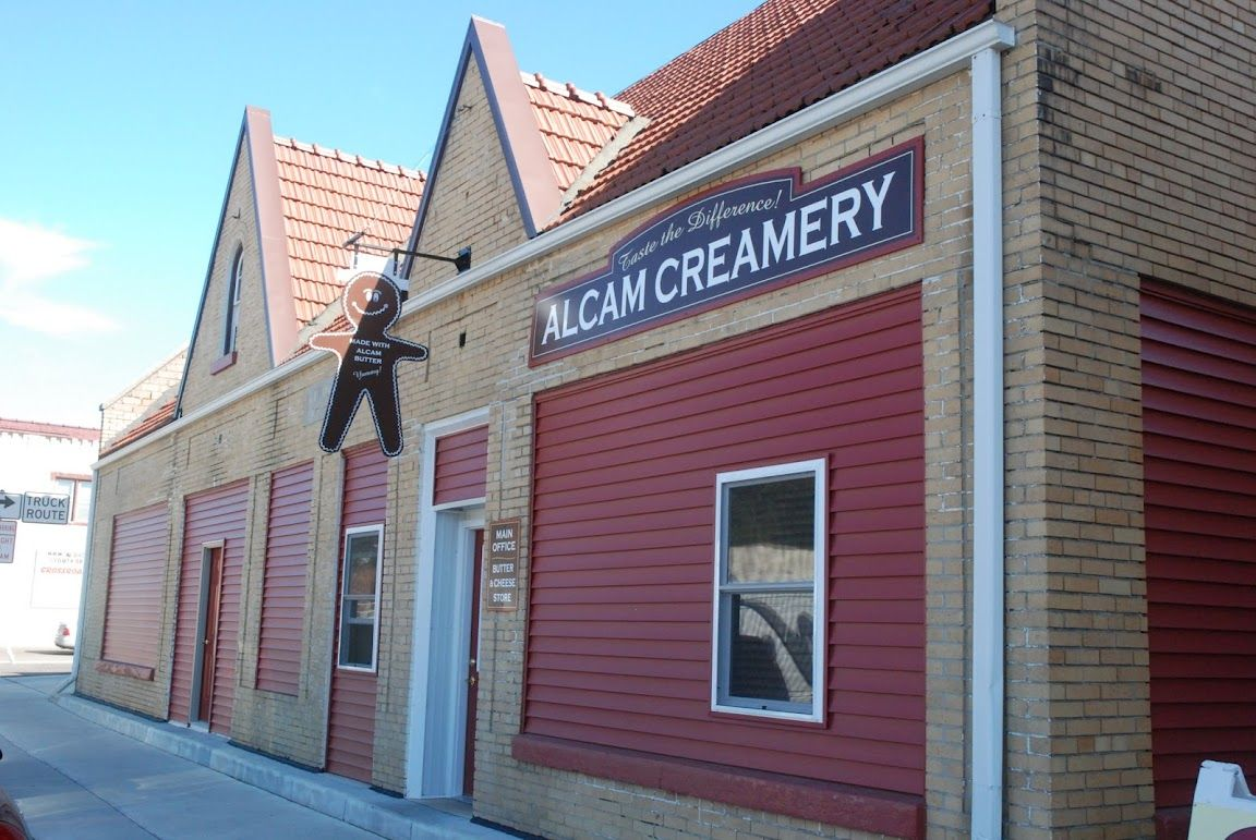 Front Of Our Store At Alcam Creamery In Richland Center Open The Door For Butter And Cheese Cheese Curds Fresh Cheese Creamery