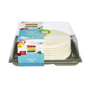 Coles Rainbow Cake Coles Online Buy Two And Decorate With