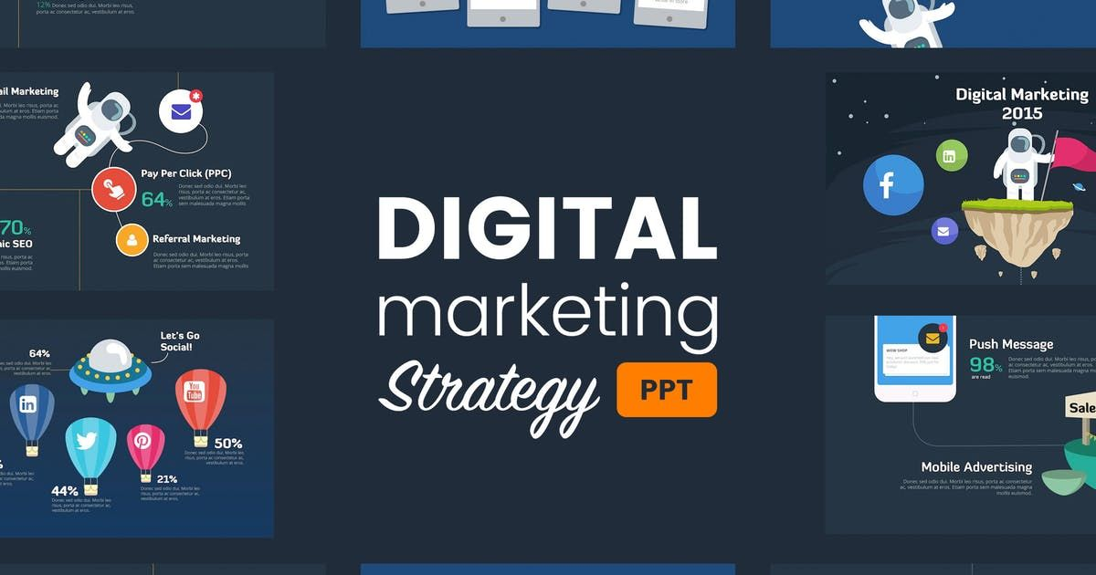 Digital Marketing Strategy Powerpoint Template by