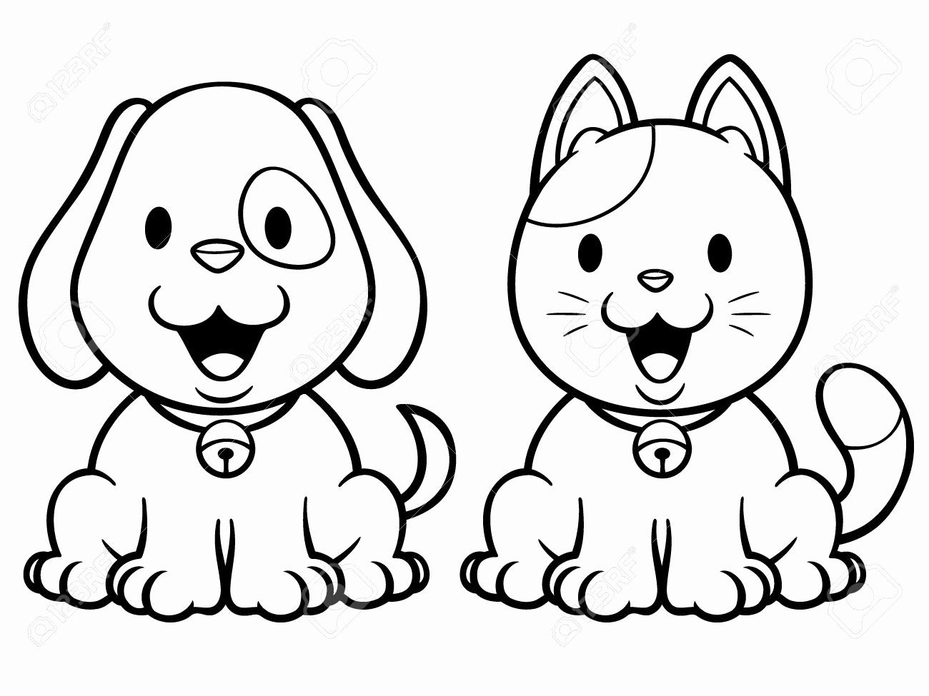 Cartoon Dog Coloring Page Unique Cartoon Dogs And Cats Cat Coloring Book Cartoon Coloring Pages Cat Coloring Page