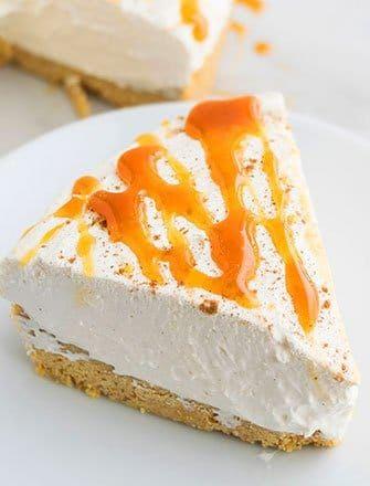 Eggnog Cheesecake {No Bake} #eggnogcheesecake