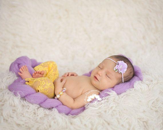 Ivory, Yellow & Lavender Pearl Newborn Bracelet, Baby Girl Props, Newborn Jewelry, Baby Photo Props, Baby Bracelets, Newborns Props on Etsy, £3.99