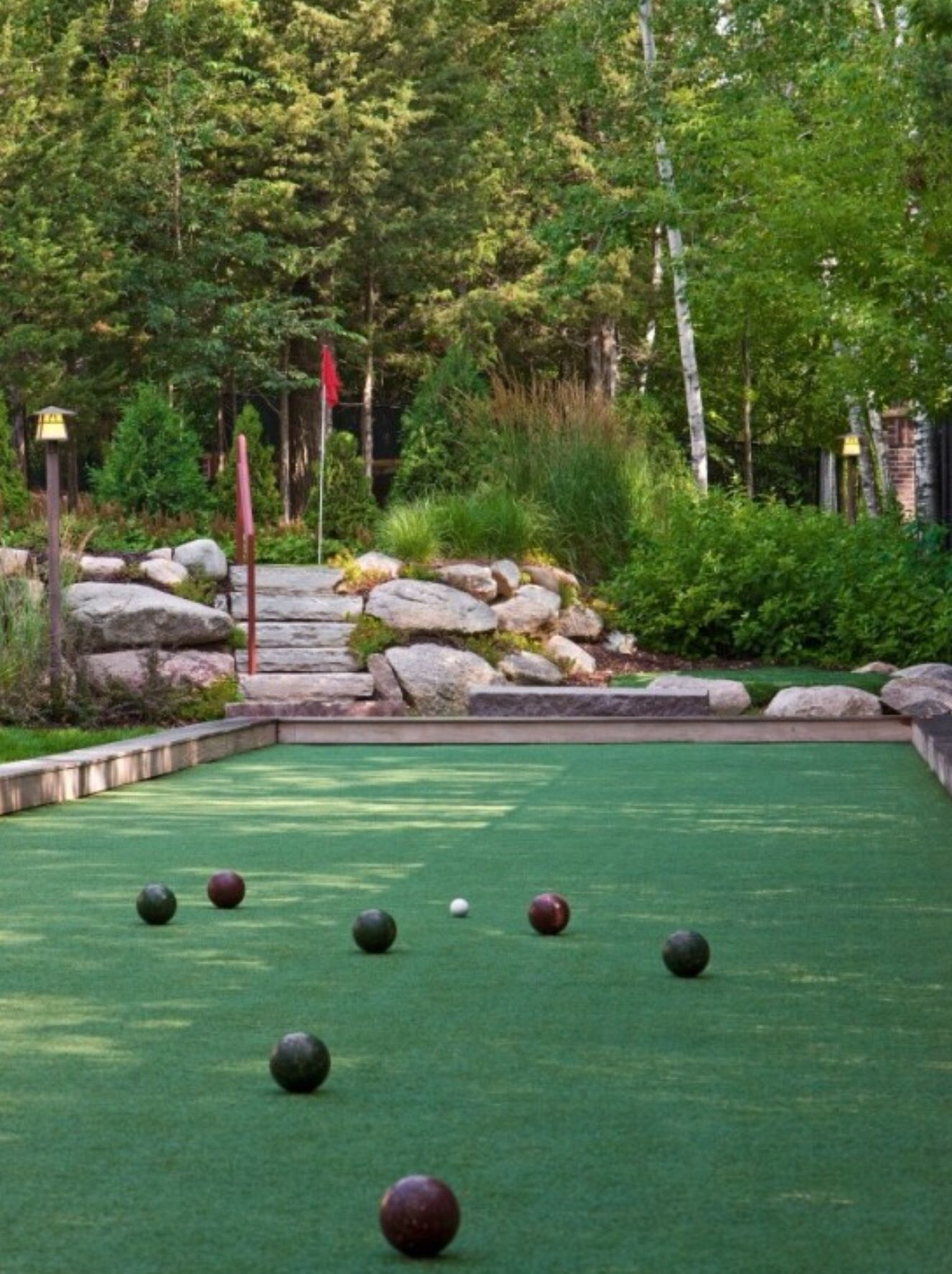 bocce ball court houzz com backyard entertainment areas