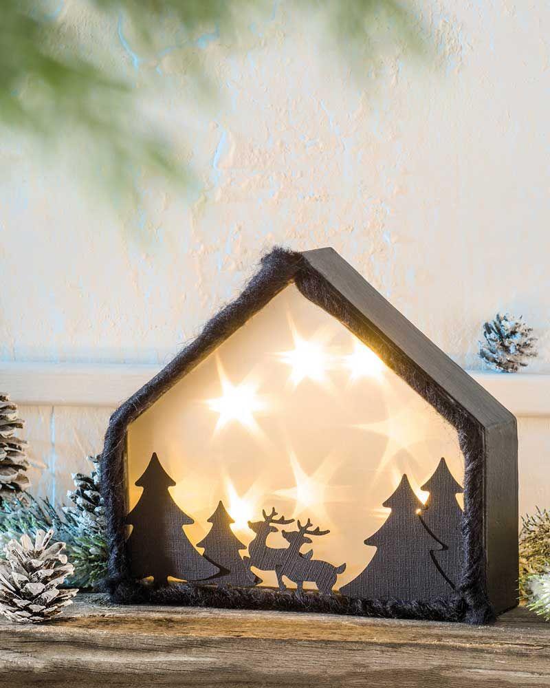winterwald mit sternenfolie idee mit anleitung klick. Black Bedroom Furniture Sets. Home Design Ideas