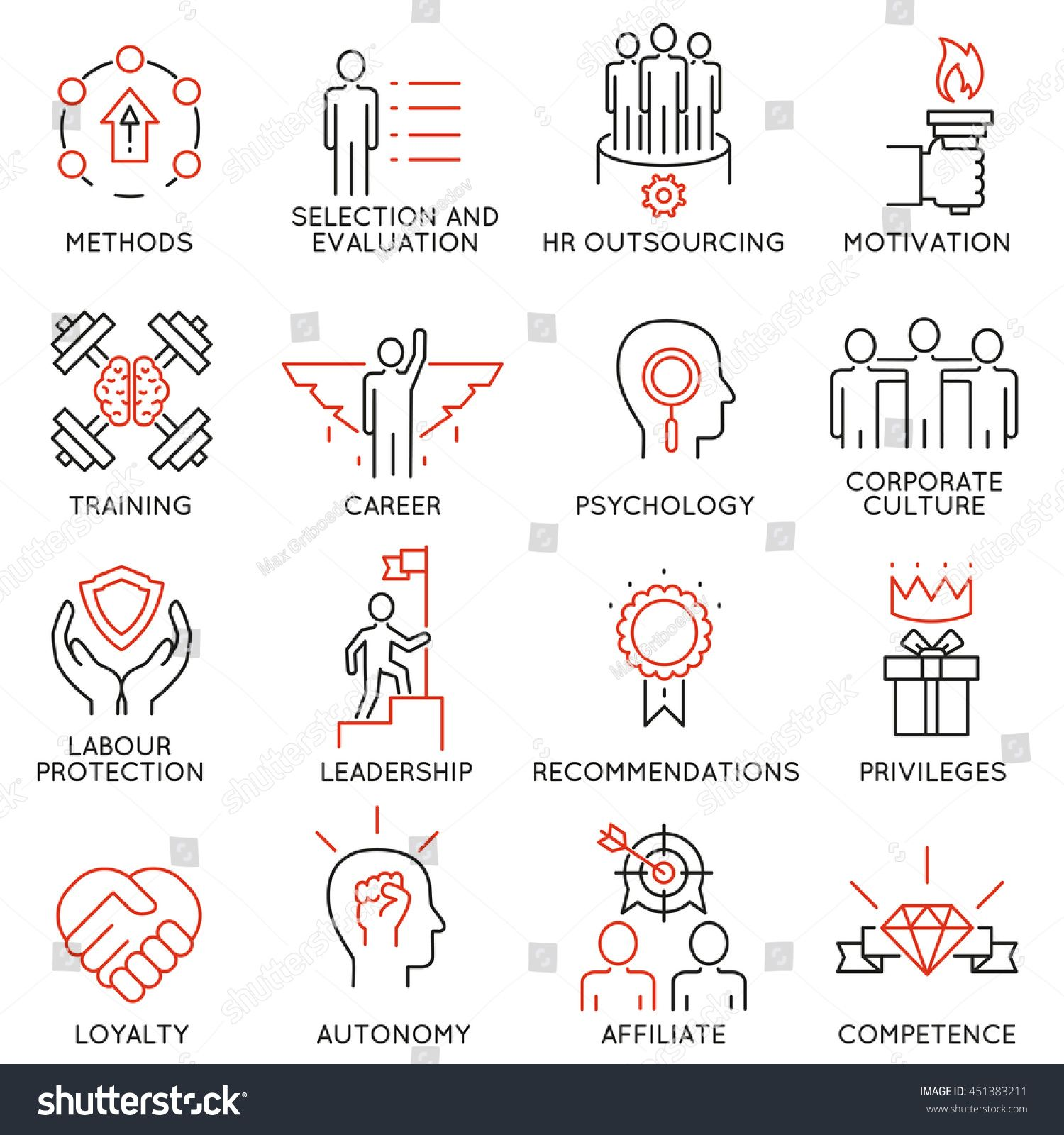 Vector Set Of 16 Linear Thin Icons Related To Striving For Success Leadership Development Career Progress And Person Ad Spon Leadership Icon Sketch Notes