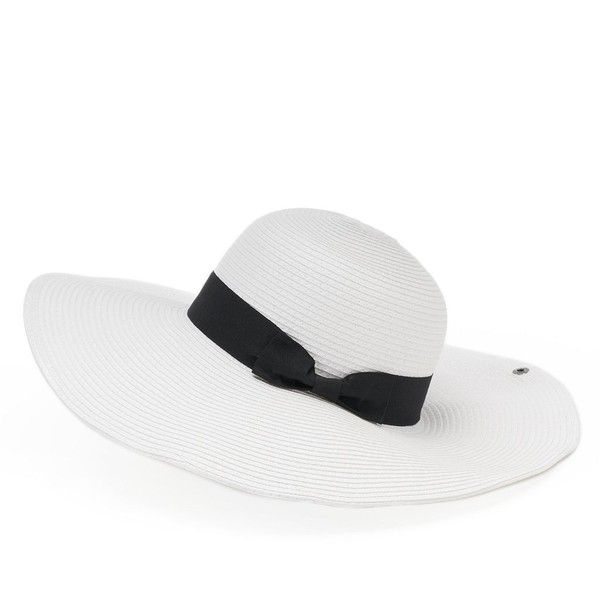 bda3901d Peter Grimm Hinata Toyo Hat ($35) ❤ liked on Polyvore featuring accessories,  hats. White HatsBrim ...
